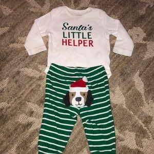 Carters Christmas outfit